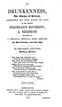 Drunkenness, the enemy of Britain, arrested by the hand of God in the recent temperance movement; a sermon preached at a teetotal festival ... Second edition