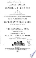 Lower Canada Municipal   Road Act of 1855