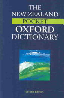 The New Zealand Pocket Oxford Dictionary Book