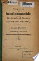 Vergleich der Pentosen-Bestimmungsmethoden : vermittelst Phenylhydrazin und Phloroglucin ; und einige Studien über Furfurolbildung