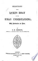 Selections from Locke s Essay on the Human Understanding Book PDF