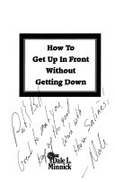 How to Get Up in Front Without Getting Down