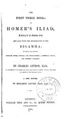 The First Three Books of Homer s Iliad  According to the Ordinary Text