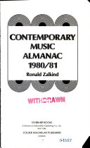 Contemporary Music Almanac