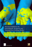 Siracusa Guidelines for International  Regional and National Fact finding Bodies