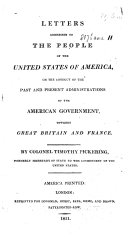 Pdf Letters Addressed to the People of the United States of America