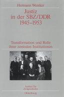 Justiz in der SBZ/DDR 1945-1953