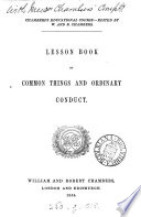 Lesson Book of Common Things and Ordinary Conduct