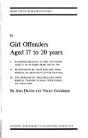 Girl Offenders Aged 17 To 20 Years