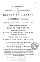 Catalogues of Items for Auction by Messrs  Leigh Sotheby   John Wilkinson  1840 1870