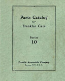 Parts Catalog for Franklin Cars Series 10  M 24 03