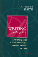 Writing Public Policy Book