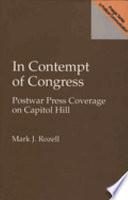 In Contempt Of Congress Book PDF
