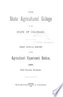 Annual Report - Colorado Agricultural Experiment Station, Colorado State University