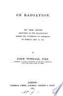 On radiation. 'Bede' lect., 1865