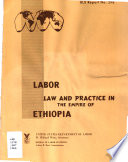 Labor Law and Practice in the Empire of Ethiopia