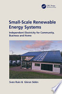 Small Scale Renewable Energy Systems Book