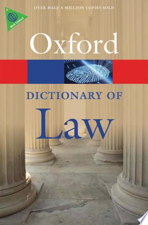 Download A Dictionary of Law Free PDF Books - Free PDF