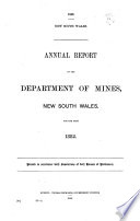 Annual Report Of The Department Of Mines New South Wales For The Year