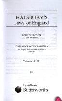 Halsbury S Laws Of England