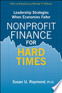 Nonprofit Finance for Hard Times