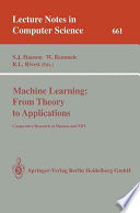 Machine Learning From Theory To Applications