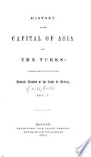 History of the Capital of Asia and the Turks