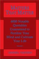 Matters That Matter Book