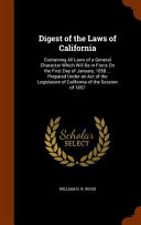 Digest of the Laws of California