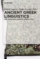 Pdf Ancient Greek Linguistics Telecharger
