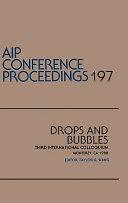 Drops and Bubbles Book