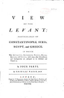 A View of the Levant