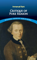 Pdf Critique of Pure Reason