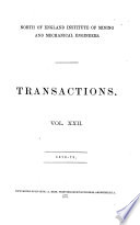Transactions   North of England Institute of Mining and Mechanical Engineers Book
