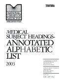 Medical Subject Headings Book PDF