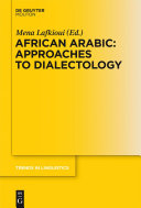 African Arabic  Approaches to Dialectology