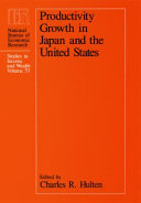 Pdf Productivity Growth in Japan and the United States Telecharger