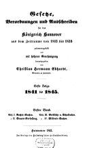 Gesetze, Verordnungen und Ausschreiben für das Königreich Hannover