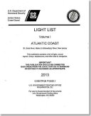 Light Lists  Atlantic Coast  from Croix River  Maine to Shrewsbury River  New Jersey 2013