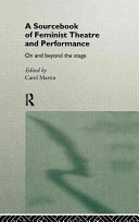 A Sourcebook of Feminist Theatre and Performance