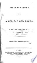 Observations on Maniacal Disorders