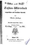 Schul- und Reise- taschen-Wörterbuch der ungarischen und deutschen Sprache