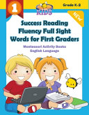 Success Reading Fluency Full Sight Words for First Graders Montessori Activity Books English Language