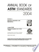 2004 Vol. 10.02: Electrical Insulation (Ii): D 2518-latest
