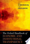 The Oxford Handbook Of Economic And Institutional Transparency Book PDF