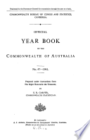 Official Year Book Of The Commonwealth Of Australia No 47 1961