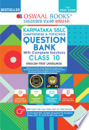 Oswaal Karnataka SSLC Question Bank Class 10 English Ist Language Book Chapterwise   Topicwise  For 2022 Exam