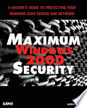 Maximum Windows 2000 Security Book