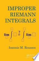 Improper Riemann Integrals Book