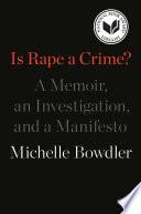 Is Rape a Crime  Book